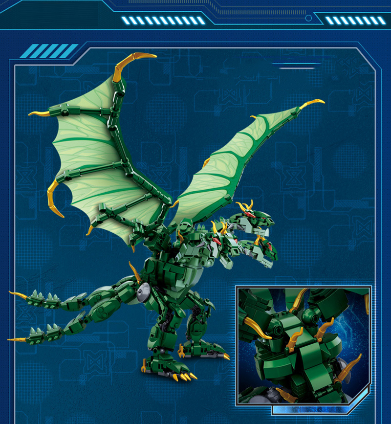 Sluban M38-B0783/B0785/B0786 King of The Monsters Godzilla Ghidorah Rodan Building Blocks 41