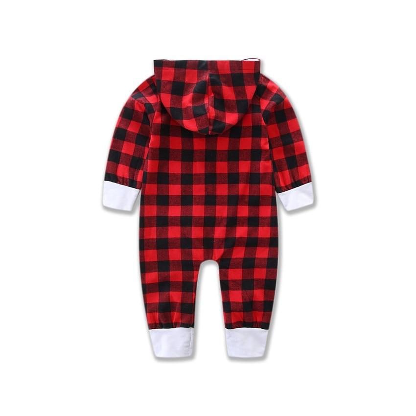 Baby Girl Clothes Ropa De Bebe Newborn Jumpsuit Infant Clothing Baby Boysclothes Red Plaid Romper Sukienki Letnie Onesie