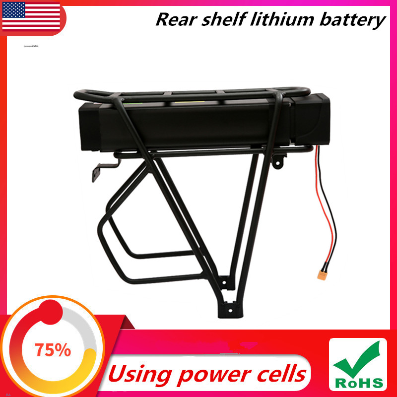 Electric bicycle 48V 36V 52V 20Ah 1000W with charger eBike lithium battery rear shelf battery + modified car battery title=