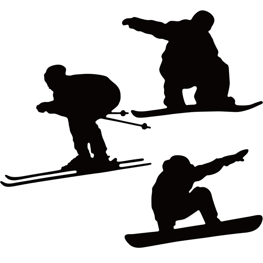 Swovo Ski boy girl Metal Cutting Dies Stencils for DIY Scrapbooking Album Paper