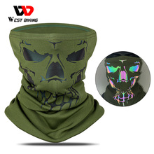 Cycling Scarf Headwear Bicycle-Bandana West-Biking Reflective Winter Half-Face-Cover