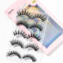 False-Eyelashes Extension-Tools Makeup Faux-Mink-Hair Beauty Handmade Cross 5-Pairs 15-25mm