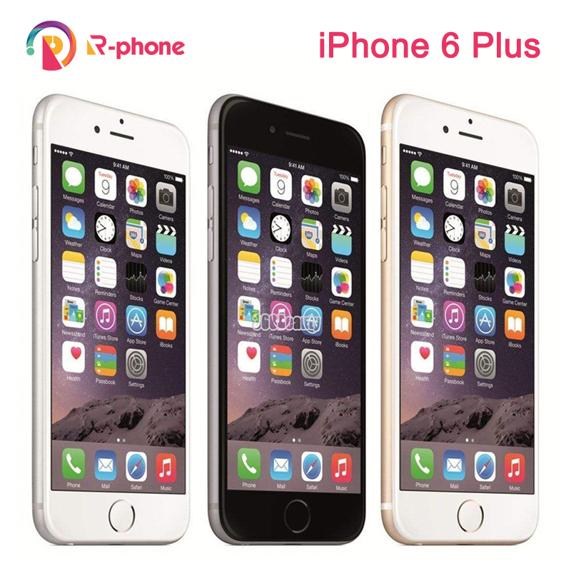 Apple iPhone 6 Plus Original 16gb Nfc Fingerprint Recognition 8MP Used 4G LTE IOS Dual-Core title=