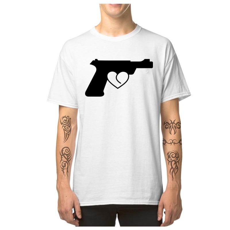 Love_Gun_7164 T Shirt 2018 Round Neck Simple Style Short Sleeve Pure Cotton Man Top T-shirts Custom T Shirt Top Quality Love_Gun_7164 white
