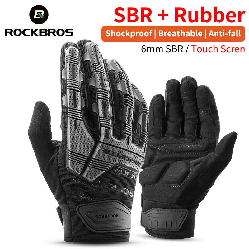 ROCKBROS Windproof Cycling Gloves Touch Screen Riding MTB Bike Bicycle Gloves Thermal Warm Motorcycle Winter Autumn Bike Gloves title=