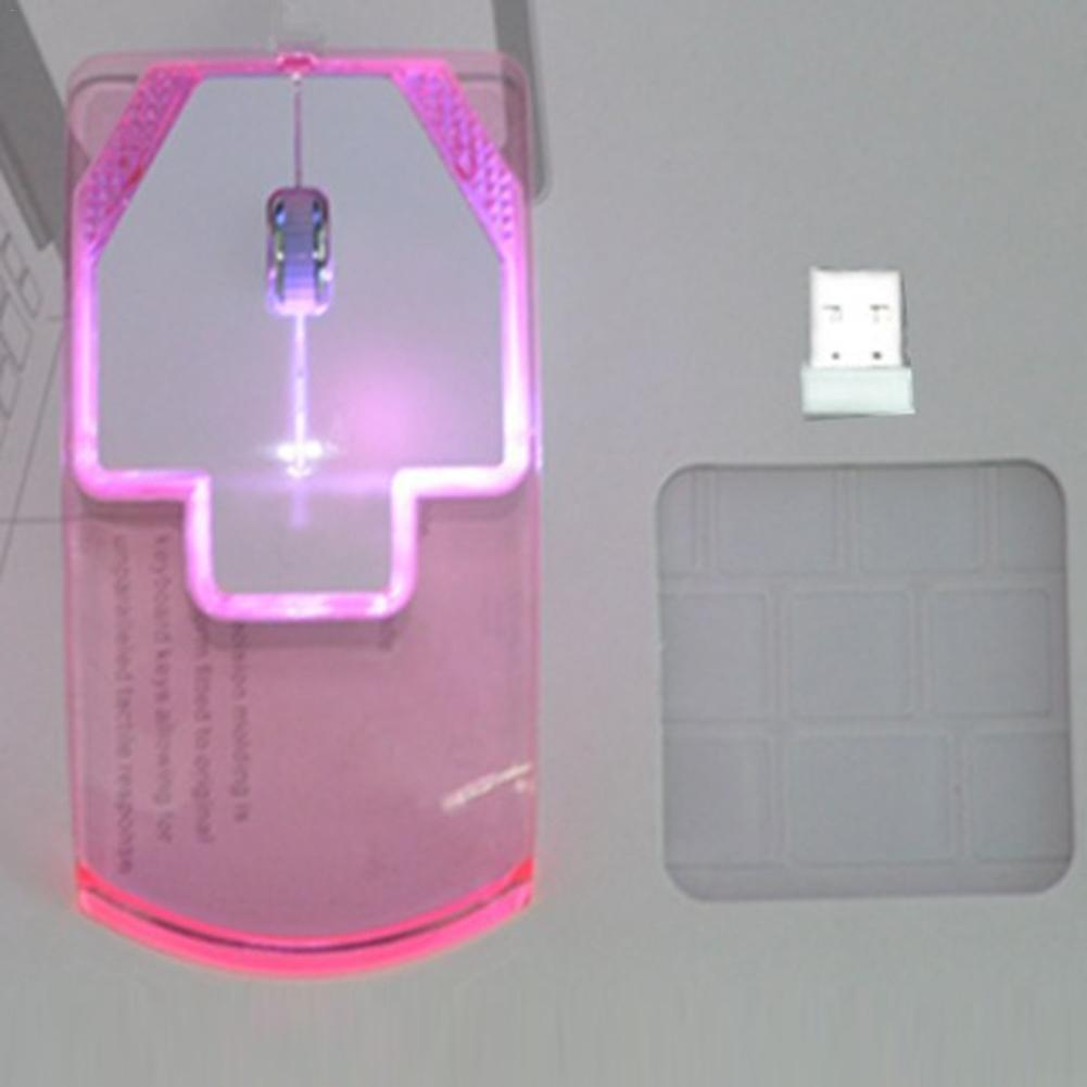 Mute Mouse Transmission-Mouse Lightweight Transparent Colorful Creative Wireless Compact title=