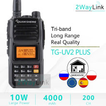 Обновление Walkie-Talkie 10 KM QuanSheng TG-UV2 Plus 10W Long Range Talkie Walkie 10 KM 4000mah Radio vhf uhf Dual Band Long Standby(Китай)