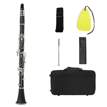 Clarinet Woodwind-Instruments Bb Flat Soprano with Cleaning-Cloth-Gloves Screwdriver