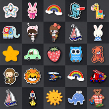 Iron-On-Patches Clothing Sticker Embroidery Patch-On-Clothes Applique Anime Stripes Cartoon