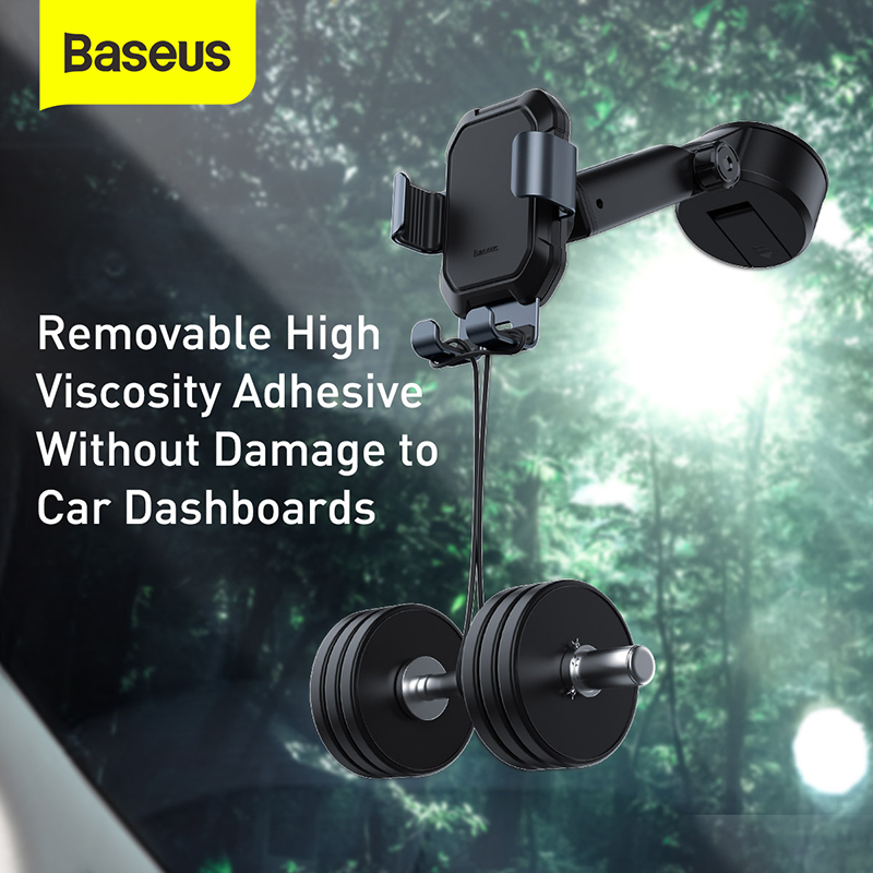 Baseus Gravity Car Phone Holder Suction Cup Adjustable Universal Holder Stand in Car GPS Mount For iPhone 12 11 Pro Max Xiaomi 9