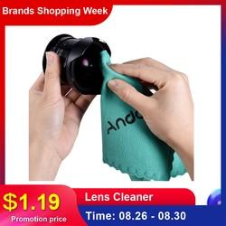 Andoer ткань для экрана очиститель стеклянных линз для Canon Nikon DSLR Camcoder камеры для iPhone iPad планшетного компьютера