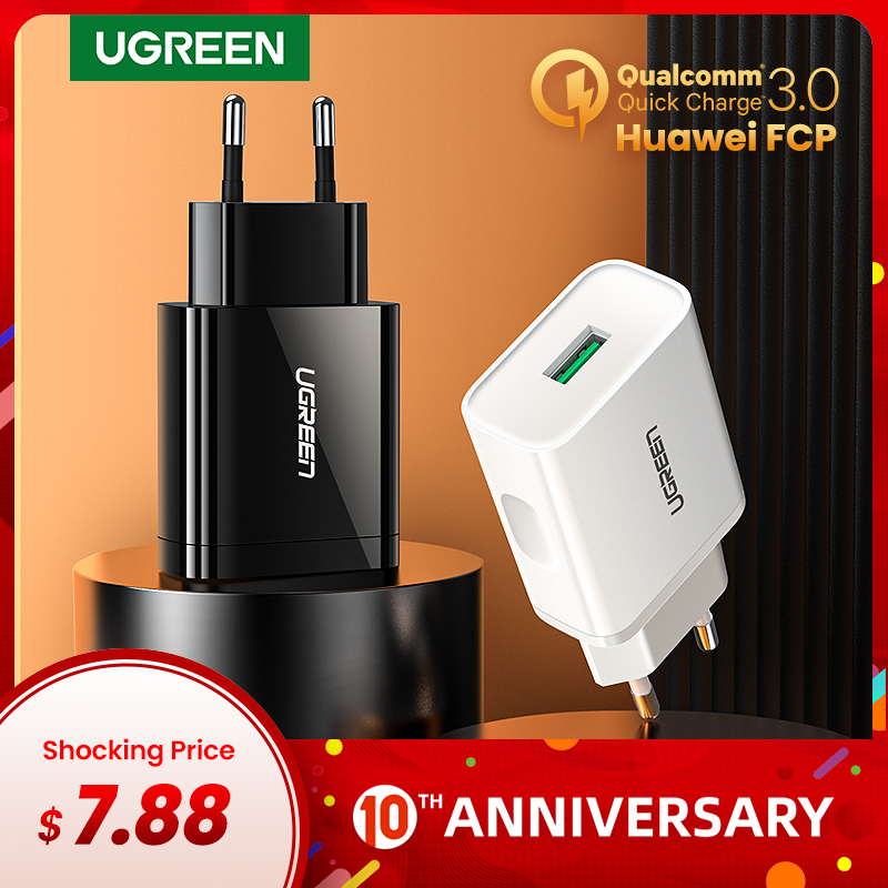 Ugreen Usb-Charger QC3.0 Huawei iPhone Xiaomi Fast Samsung S10 18W  title=