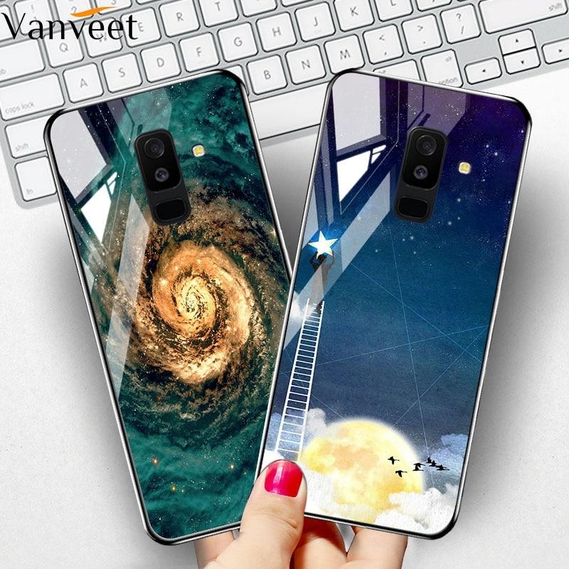 Tempered Glass Case For Samsung A7 2018 Case Coque Samsung J2 Core J8 A8 Plus A5 A6 Prime M20 M20 M10 J7 Pro Umidigi A5 Pro Case
