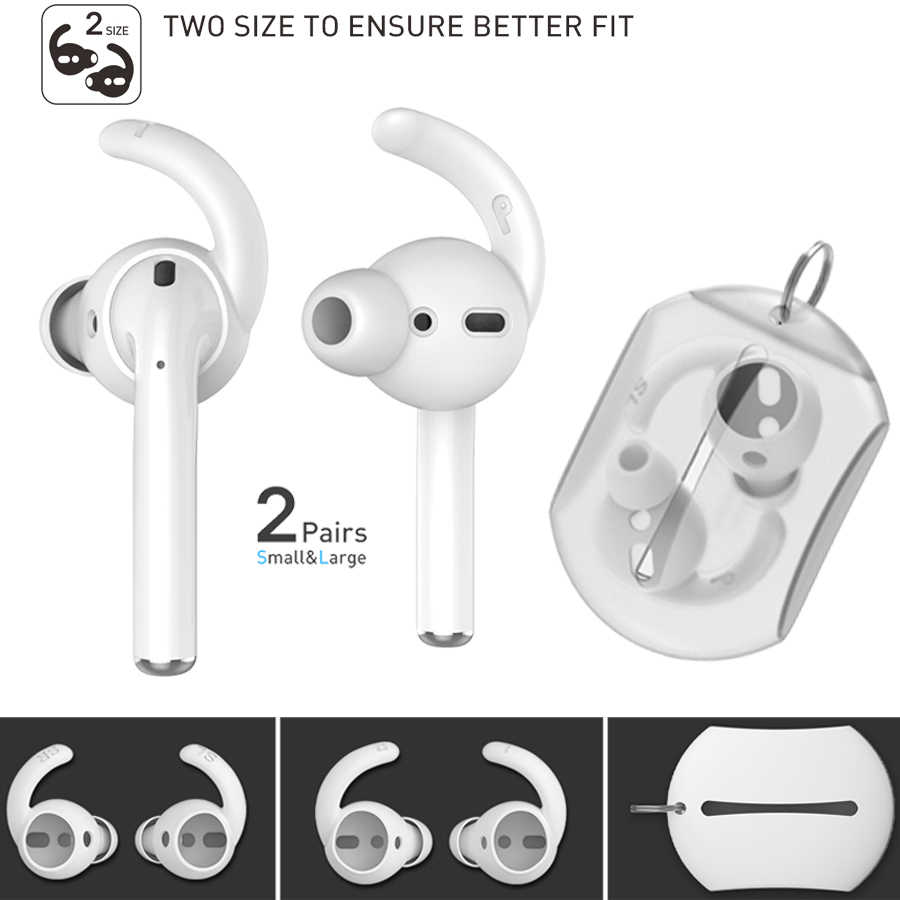 Earphones Case Cover Silicone In-Ear Headphones Cap For AirPods EarPods 1 Pair