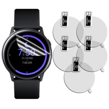 5 шт. стекло для Samsung Galaxy Watch Active 2 44 мм 40 мм/46 мм/42 мм Gear S3 Frontier/S2/Sport 3D HD Full Film Screen Protector(China)