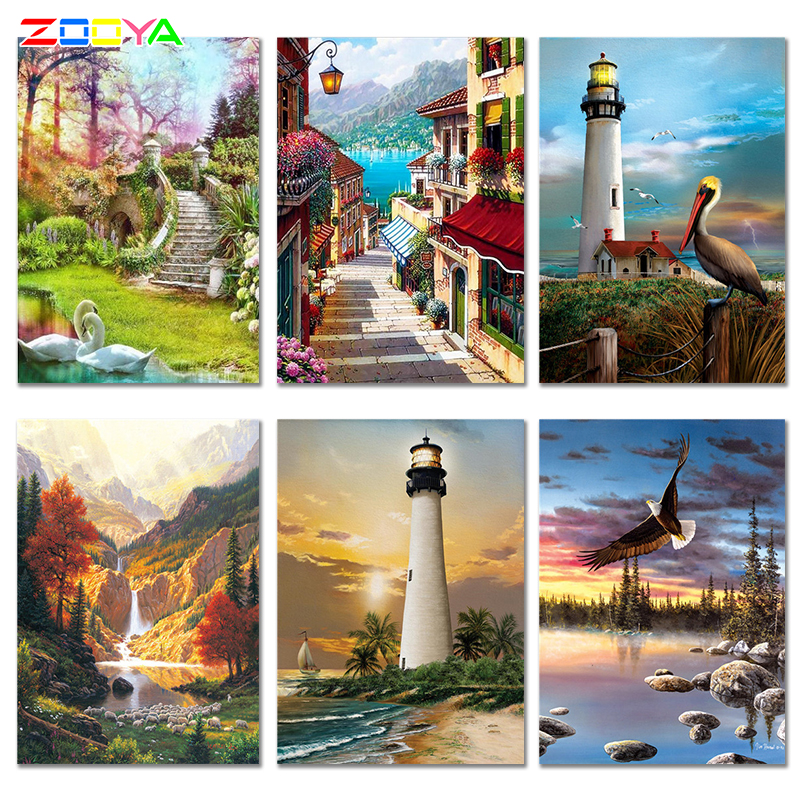 ZOOYA Diamond Painting Pictures Swan Full-Square New-Arrivals Rhinestone Animals Home-Decor title=