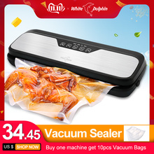 Food-Vacuum-Sealer-Machine Bags White Dolphin Electric 110V 220V for with 10PCS Home