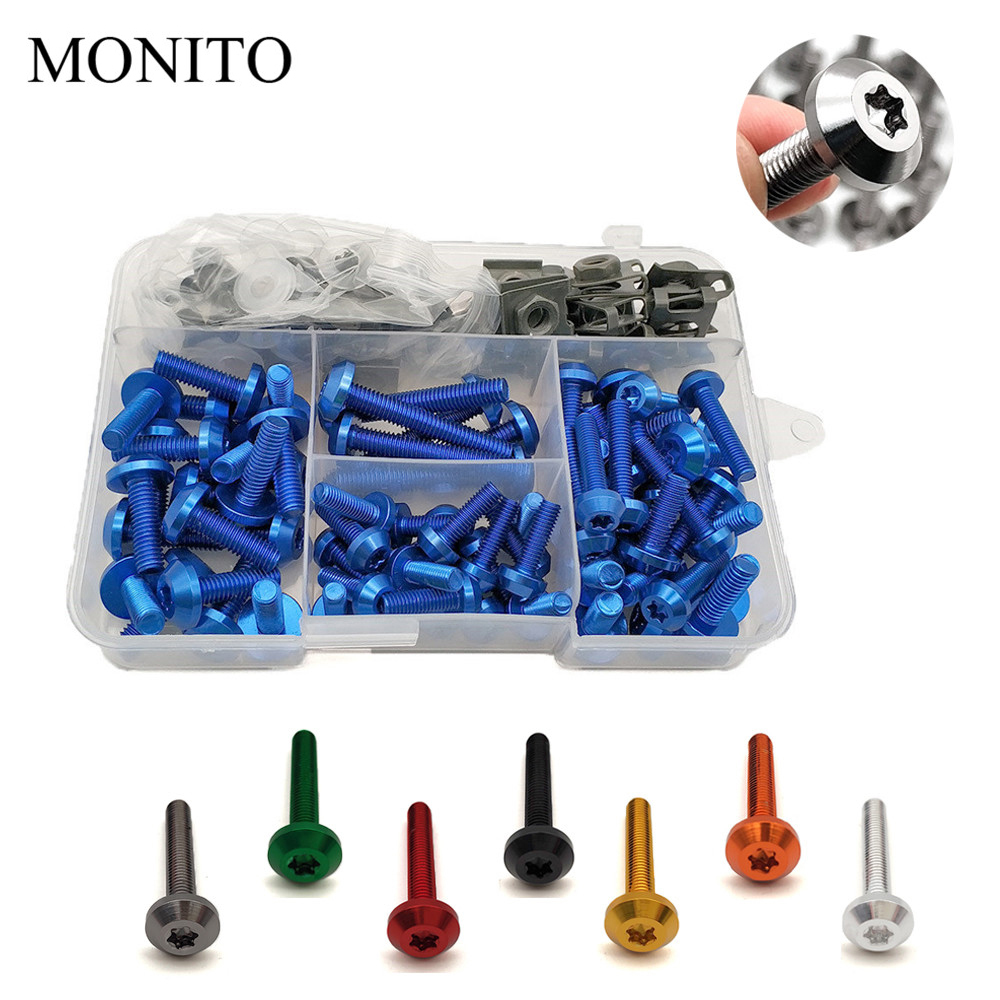 Motorcycle Fairing Bolts Nuts Kit Body Fastener Clips Screw For yamaha tmax 500 tmax500 t max 500 TMAX 530 2001-2019 Accessories