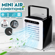 Mini USB Portable Air Cooler Fan Air Conditioner Desktop Air Cooling Fan Humidifier Purifier