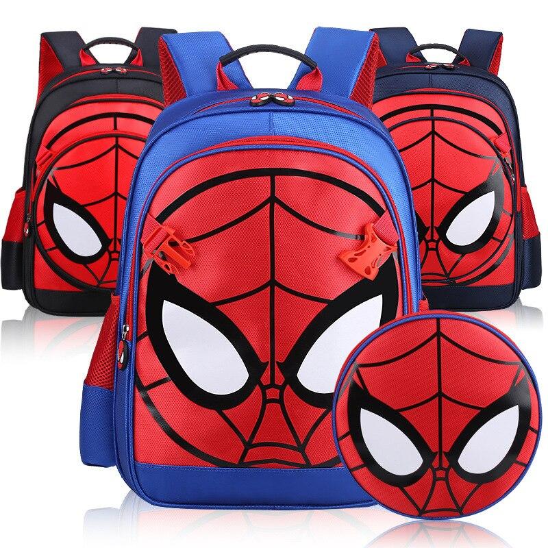 Waterproof Kids School Backpack For Boys Child Spiderman Book Bags 3-6 Years Old