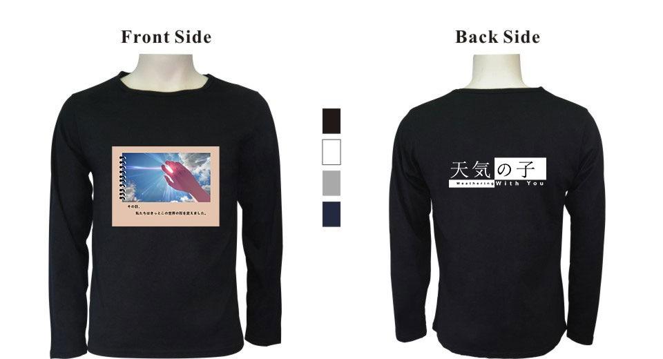 Hip Hop T Shirts men Long Sleeve Striped t shirt Casual Men tee shirt Son of the weather 2019 Streetwear Men  Cotton T-shirt