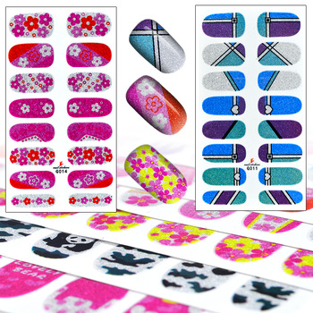10 Sets High Quality Foils Decals French Manicure Beauty Makeup Tools Cartoon 3D Nail Art Sticker Patch