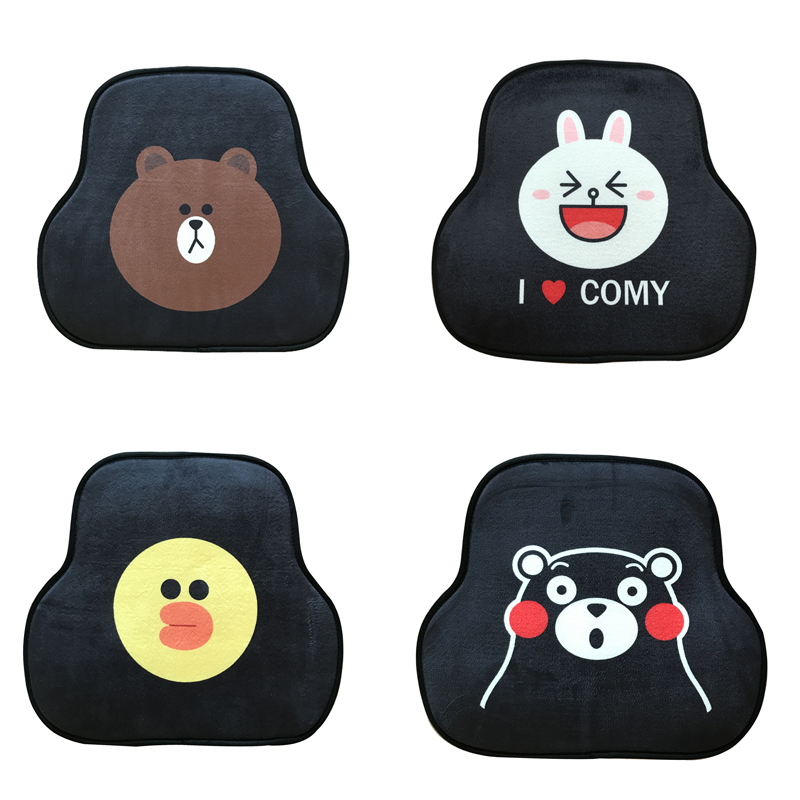 Foot-Pad Car-Floor-Mats Cartoon Cute Four-Seasons Five-Seat Stupid Automobile General-Purpose title=