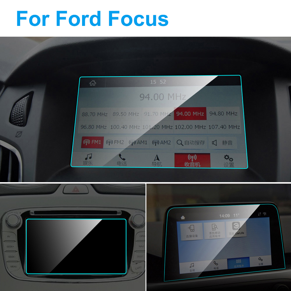 For 2016 2017 Ford Focus Car Cover Accessories GPS Tempered Glass Protector Film
