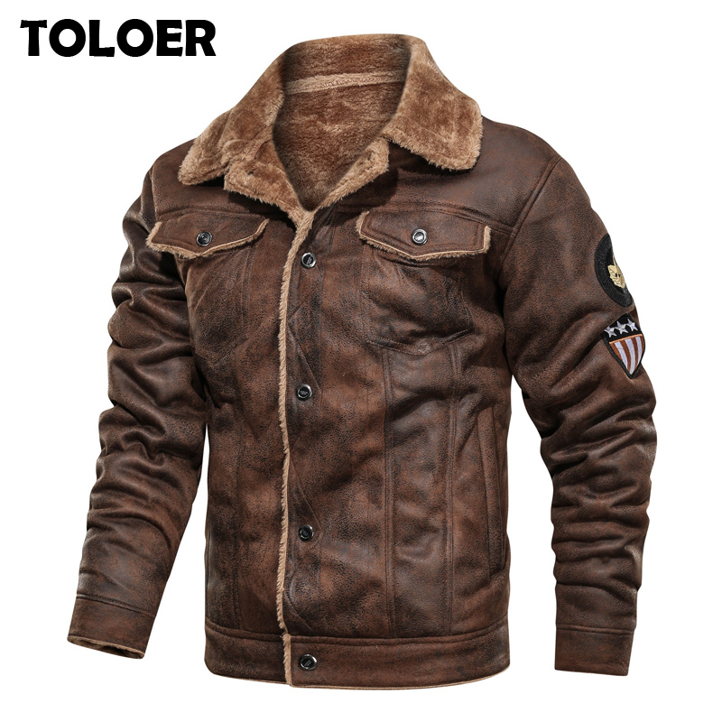 Tactical-Jackets Coat Liner Bomber-Flight Pilot Suede Wool Fleece Army Male Winter Cotton title=