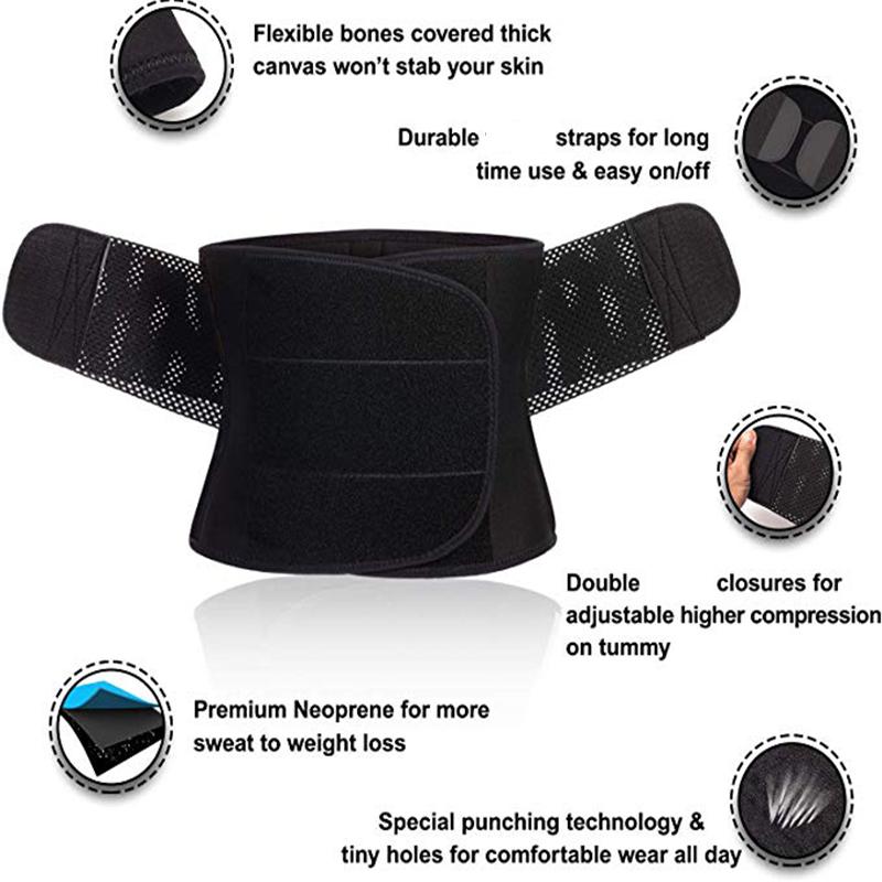 Healifty Taille Tondeuse Entra/îneur Ceinture Body Taille Cincher Shaper Plus Mince pour Les Femmes Hommes Perte de Poids Ventre Graisse Sport Sueur Entra/înement Shaper Sauna Exercice Taille S