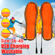 Heated-Shoes-Insoles Warmer Heating-Foot-Pads Electric Winter USB for 36-45-Yards Unisex