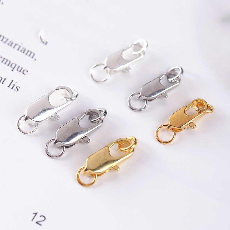 3pcs//Set 925 Sterling Silver Lobster Clasps Claw Hook for DIY Jewelry Findings