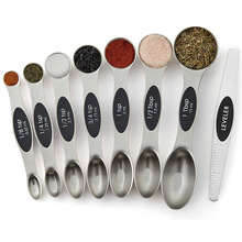 Ruler Spoons-Set Salt Flour Coffee-Measuring Dry-Liquid-Ingredients Magnetic for Oil-Soy-Sauce