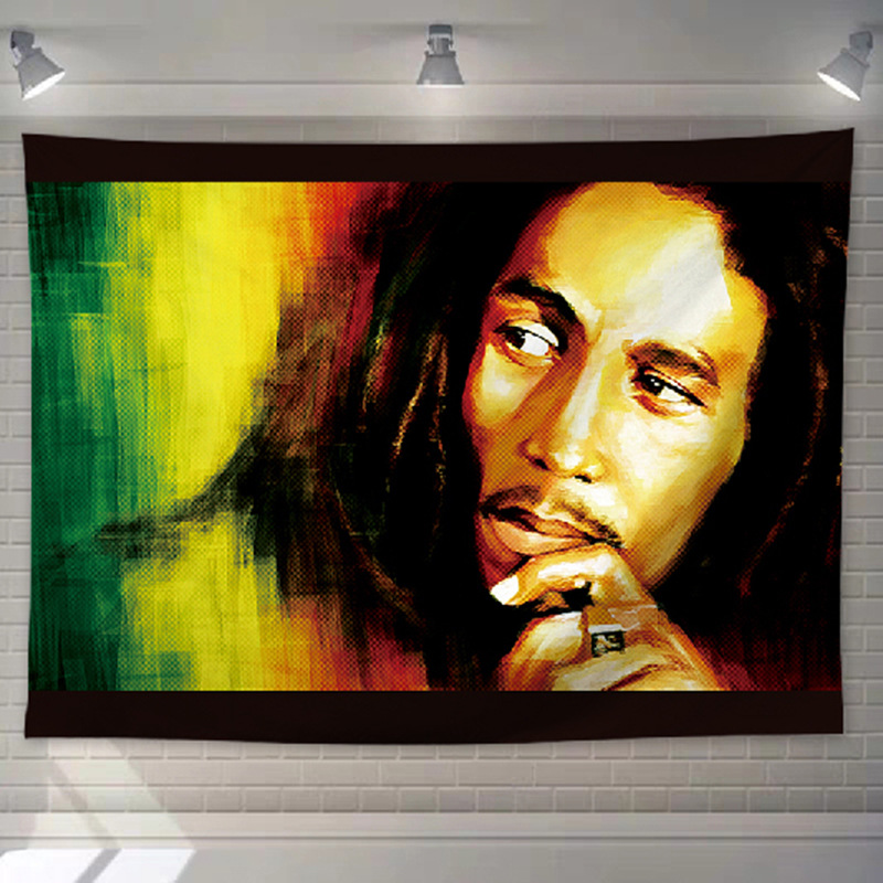 Tissu Tenture Rastafari | Rasta-Lion