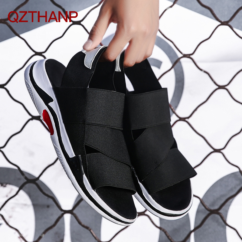 New Elastic Fabric Band Men Sandals Nylon Adults Outdoor Fashion Sandals Wearproof Man Casual Shoes Breathable Zapatos Hombre