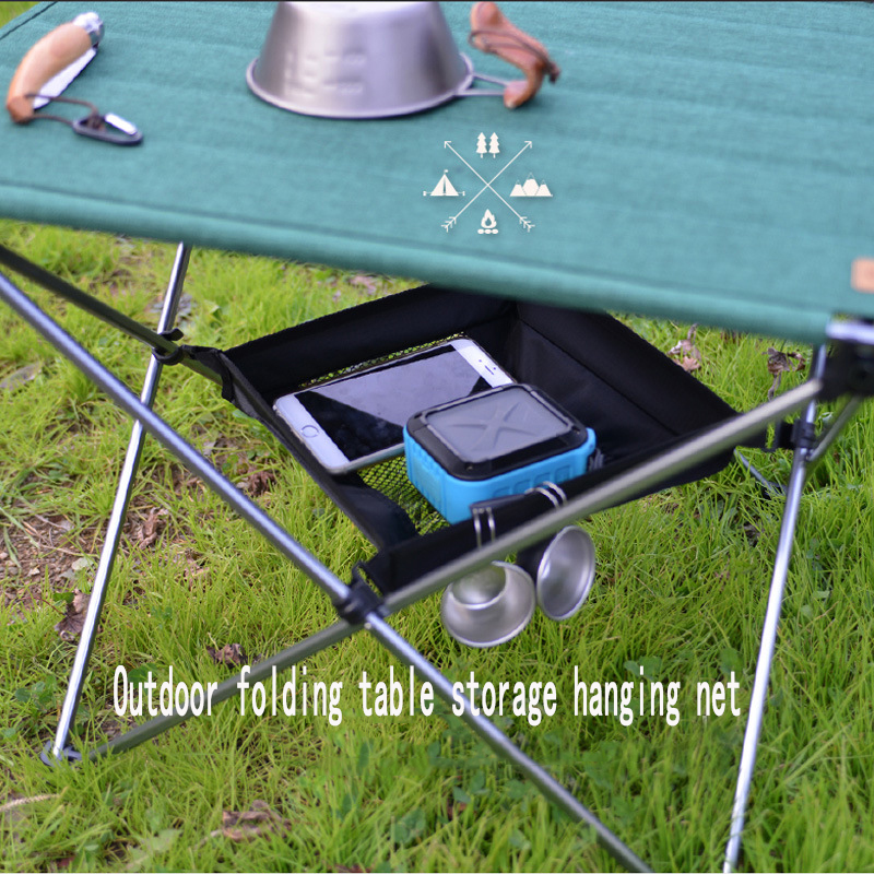 Outdoor Camping folding table storage hanging net basket picnic table storage rack camping storage hanging bag finishing net bag title=