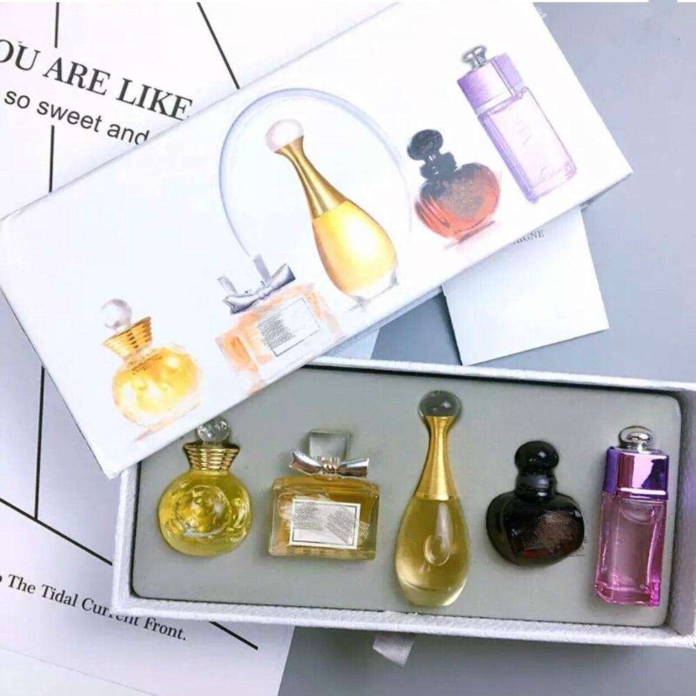 5Pcs Original Sample Perfume For Women Sexy Long Lasting Eau De Q Version Women Parfum With Beautiful Package 1Set Fragrances (2)