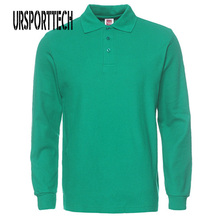 Jerseys Polo-Shirt Slim-Fit Long-Sleeve Plus-Size Mens New-Brand Casual Cotton XS-3XL
