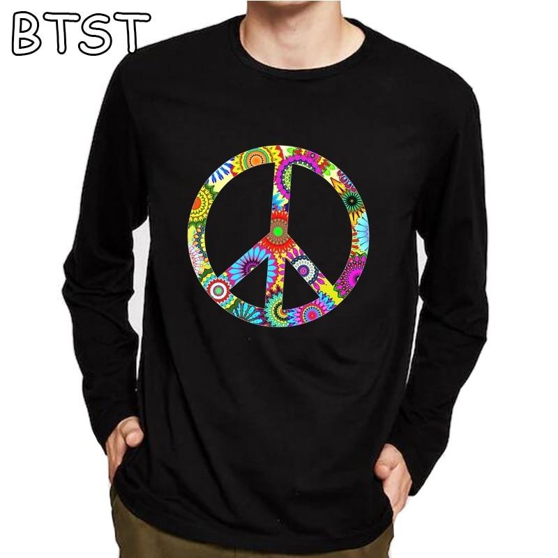 CND Antiwar Peace Sign Stencil T shirt Tee M-XXL New BLACK