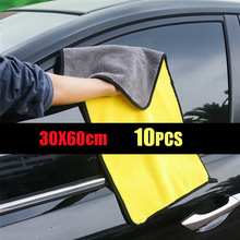 Microfiber-Towel Car-Care-Cloth Detailing Car 30x60cm Car Cleaning Scrat Washtowel Soft