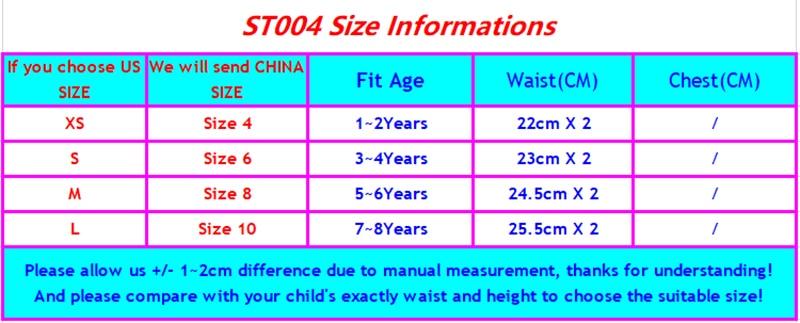 ST004 SIZE CHART