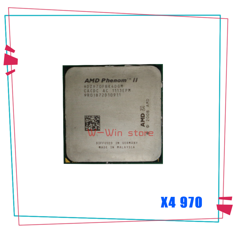 AMD Desktop CPU Socket-Am3 Phenom-Ii X4 HDZ970FBK4DGM 970x4-970 Edition Black 125W title=