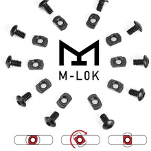 Screw Mlok Handguard Hunting-Gun-Accessories Rail-Sections M-LOK Nut for 10pcs/Lot Replacement