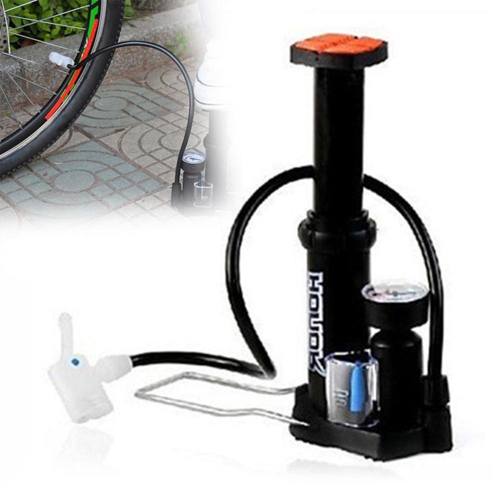 Pompe à pied avec manomètre voiture vélo pneu airbeds bicycle