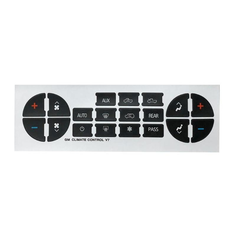 AC Control Button Repair Kits Decals Stickers For Climate Car GM GMC Radio