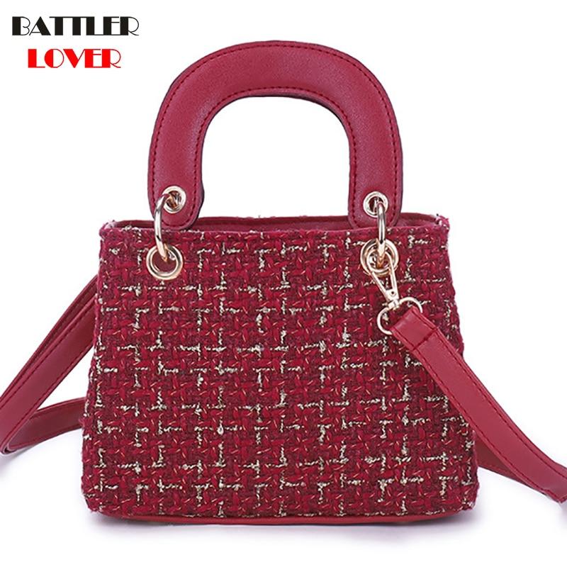 Solid color small bag wool female large capacity ladies shoulder diagonal bag womens super chain bags 2019 new crossbody bags