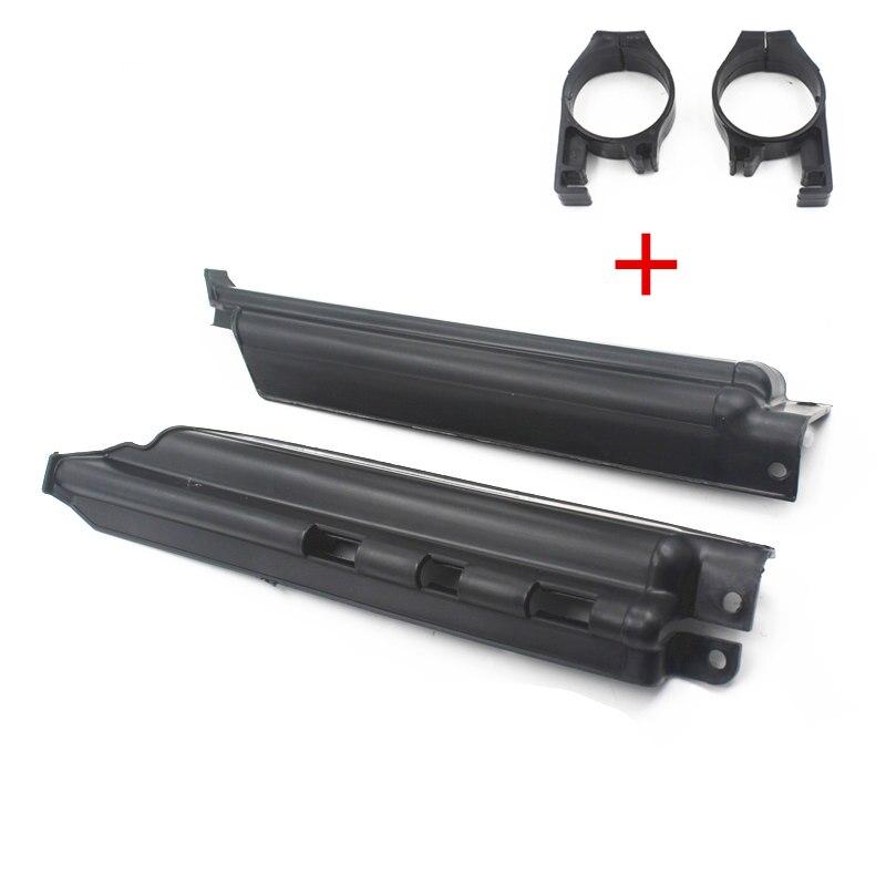 KDX 250 200 KLX 250R 300R 650 Fork Clips Guard w// Slider Protector Fit Kawasaki