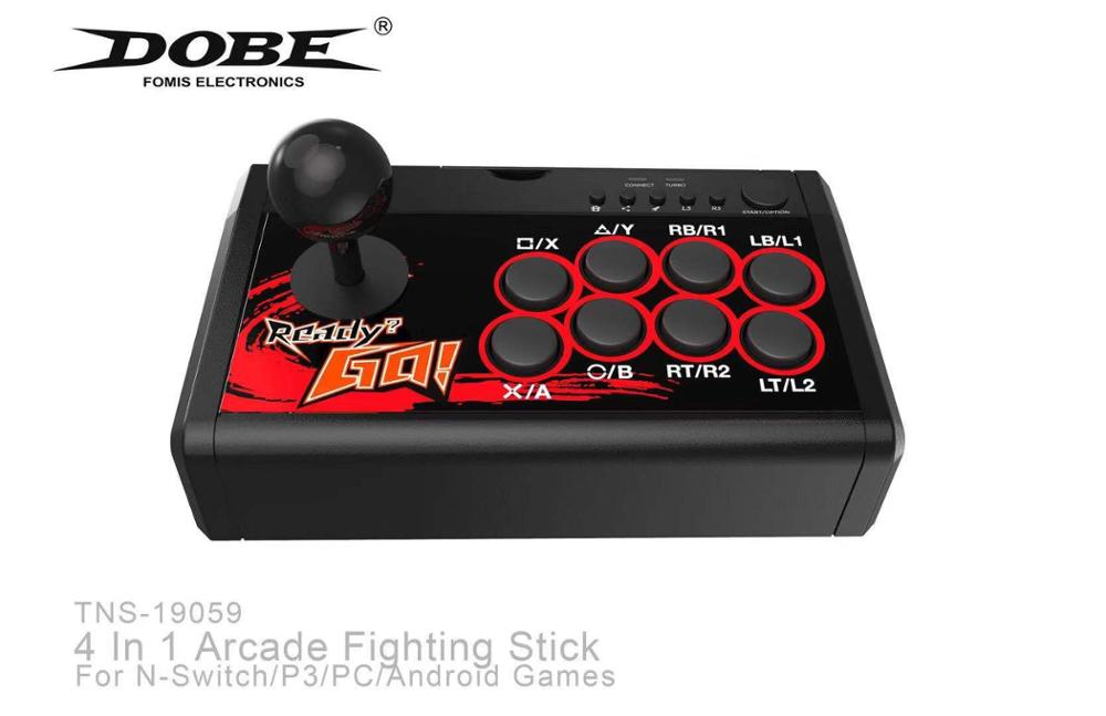 USB Rocker Game Controller Arcade Joystick Gamepad Fighting Stick For Swtich/PS3/PC/Android 4 In 1 Arcade Fighting Stick title=
