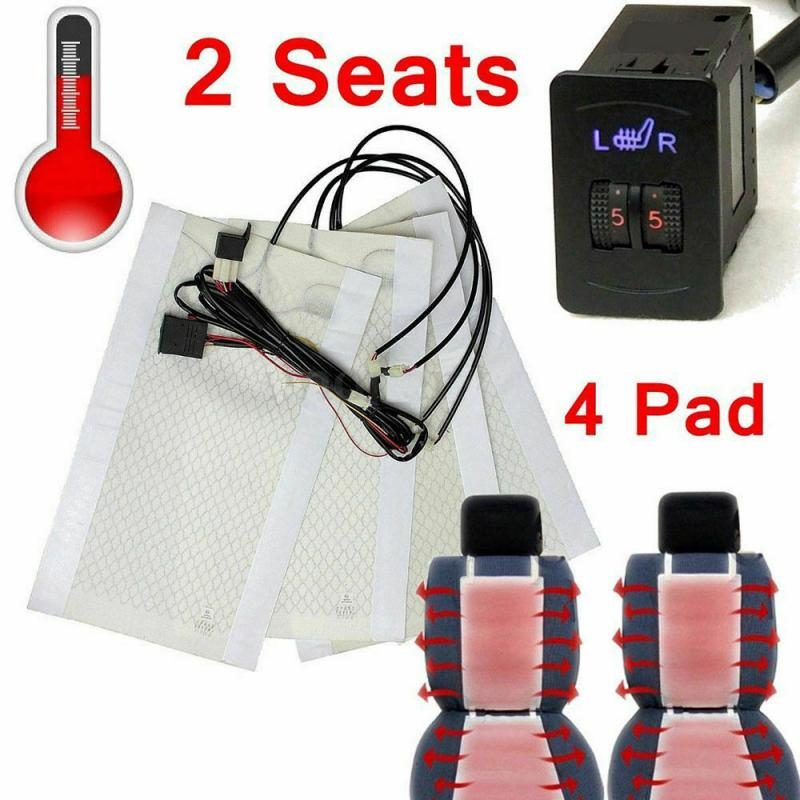 Warmer Heater-Mat Seat-Cover Car-Seat Carbon-Fiber Universal Auto Pad 4 Heating Winter title=