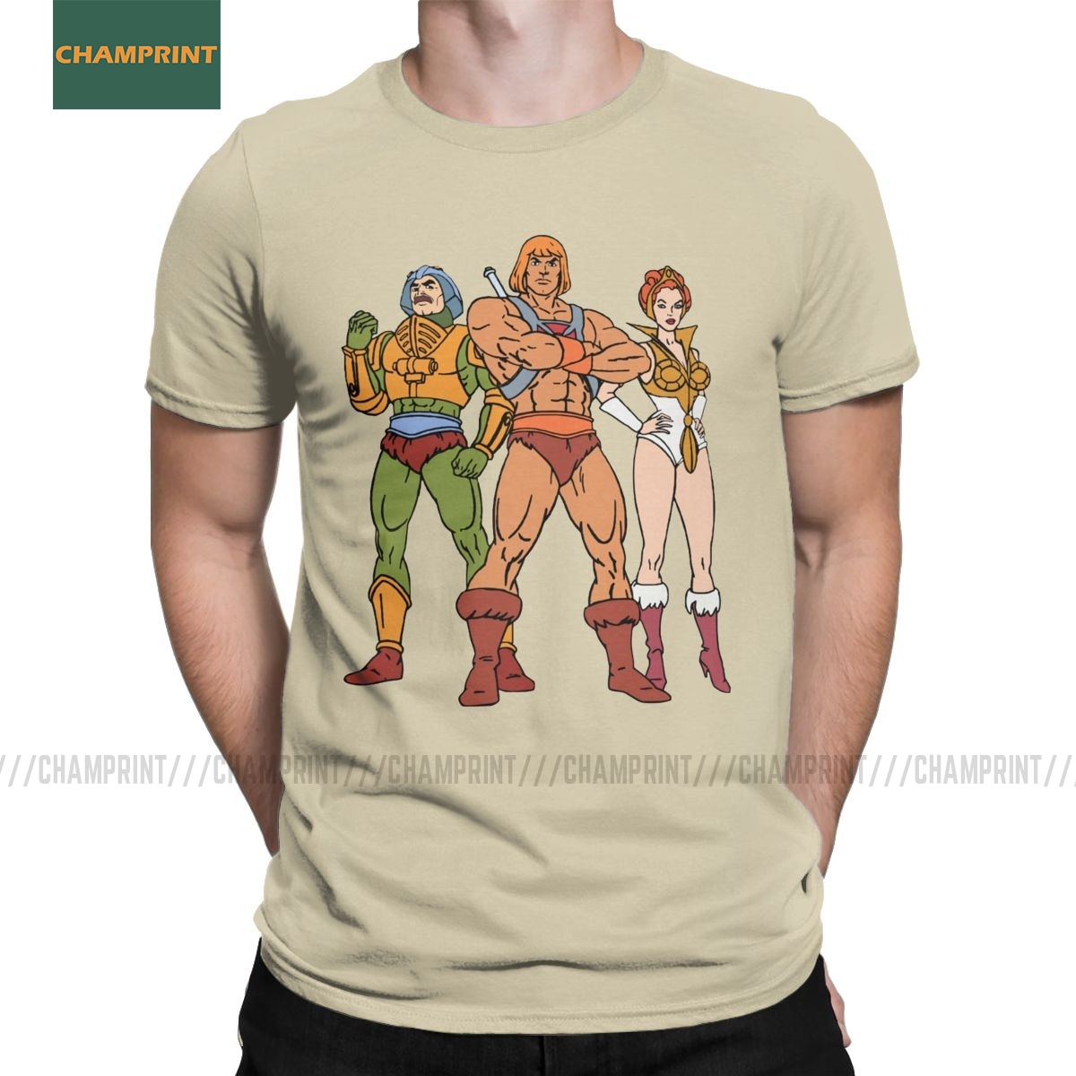 MotU Trinity He-Man Masters Of The Universe T-Shirt Men Skeletor Cartoon 80s She-Ra Beast Cotton Tee Shirt Short Sleeve T Shirts
